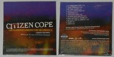 Citizen Cope - Clarence Greenwood Recordings  sealed U.S. promo cd  Card cover