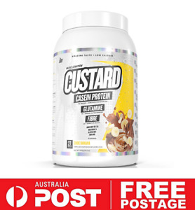 Muscle Nation CUSTARD CASEIN PROTEIN 25srv CHOC BANANA | Dessert Low Calorie