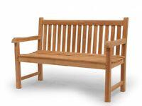 Gartenbank Gartenmöbel Sitzbank 2-Sitzer aus massiven Teak Holz 130 cm (2671)