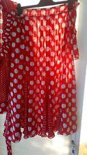 Vintage 60 s/70 s/80 s Clothing ~ Kanga ~ Rouge/Blanc Ensemble 2 pièces (14/23) (80 S)