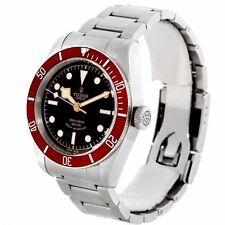 Tudor Heritage Black Bay Automatic Black Dial Red Bzel Watch 79220R-95740BLK IND