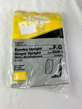 EUREKA F & G OR SINGER SUB-1 UPRIGHT VACUUM CLEANER BAGS NEW PACKAGE OF 3