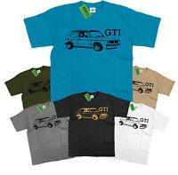 VW Mk1 Golf GTI T shirt Retro mark 1 VW Volkswagen Rabbit