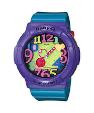 CASIO BGA-131-6B Baby-G Ana-Digi LED 90's Look Resin Strap Purple Blue