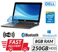 Fast Dell Latitude E7240 12.5'' Intel Core i7 4th Gene 8GB 250GB Webcam WIN 10
