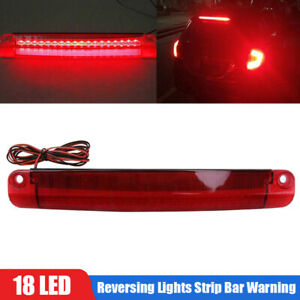 18 LED Car Tail Third Red Brake Stop Light Reversing Lights Strip Bar Warning