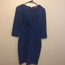 Adrianna Papell Petite Women's  After 5 Dress Size 8P Blue NWT 3/4 sleeves