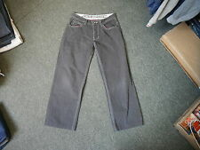 "Lambretta Straight Jeans Waist 32"" Leg 27"" Faded Dark Grey Mens Jeans"