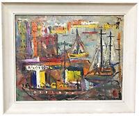 "JEAN-PAUL MOURAN (FRENCH,) ""LA MER ET L'INFANT"" (THE SEA & CHILD) OIL ON CANVAS"