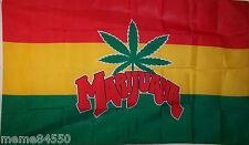 3' x 5' New Rasta Marijuana Flag