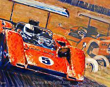 "'Two McLarens Can-Am Champions' Bruce McLaren Denny Hulme 16"" x 20"" Art Print"