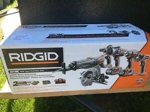 RIDGID R9652 Gen 5 18V Li-Ion Cordless Brushless 5-Tool Combo Kit