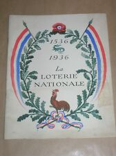 RARE ALMANACH / 1536 1936, LA LOTERIE NATIONALE / BON ETAT