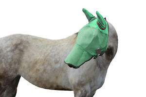 Derby UV-Blocker Premium Reflective Horse Fly Mask with Ears and Nose Cover