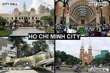 SOUVENIR FRIDGE MAGNET of HO CHI MINH CITY SAIGON VIETNAM
