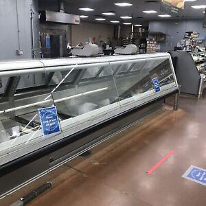 Hussmann Slant Glass Service Deli Cases 8 & 12 Ft 4Deli Meat Cheese Salads Fish