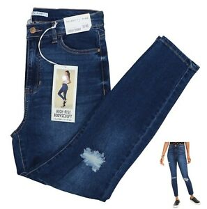 Celebrity Pink Hi Rise Curvy Skinny Distressed Denim Jeans 30Wx27L NWT Maggie