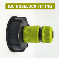 """IBC Tank Cap With Brass Tap 1 2"""" Snap on Connector Water Butt Fuel Storage"""