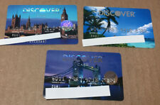 Lot Of 3 Expired Credit Cards For Collectors - Discover Cards (9157)