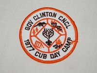 VINTAGE BSA BOY SCOUTS OF AMERICA 1977 GOV CLINTON COUNCIL CUB DAY CAMP  PATCH