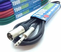 "Neutrik Balanced TRS 1/4"" Jack to Male XLR Lead Powered Speaker Cable ANY LENGTH"