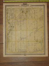 1875 Atlas - Howard & Mitchell County, Reversable Iowa Map ORIGINAL - Osage IA