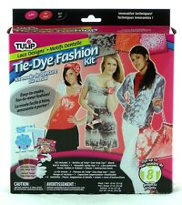Lace Design Fashion Tie Dye Kit Tulip NEW clothing tye die black red fuschia art
