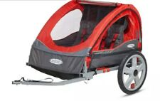 Nice InStep Bicycle Bike Double Trailer Folds Trunk Rain Canopy Screen Red