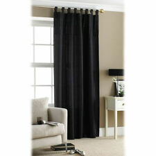Faux Silk Embroidered Tab Top Curtains & Pelmets