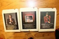 Lot 3 Ronnie Milsap Country 8-tracks 8-track Tested working 80's Greatest Hits