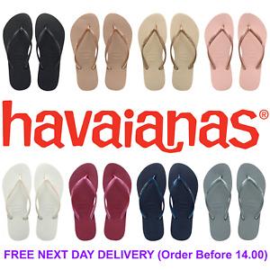 Original Havaianas Slim Flip Flops - Women - 9 Colours - UK Size 1 2 3 4 5 6 7 8