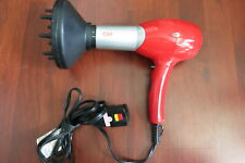 CHI Turbo Professional Low EMF Ceramic Hair Dryer With nozzle 1500W Red