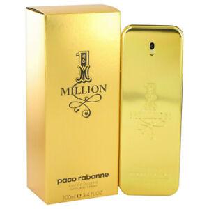 1 Million for Men by Paco Rabanne 3.4 oz Eau de Toilette Spray Free Shipping W