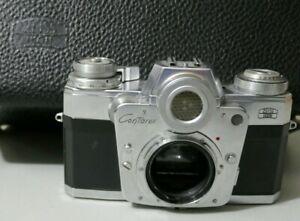Zeiss Ikon Contarex Bullseye SLR Film Camera Body with Zeiss Leather Case
