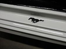 (2pcs) RUNNING HORSE PONY doorstep badge decal - BLACK