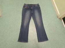 "M & Co Bootcut Jeans Size 14 Leg 30"" Faded Dark Blue Ladies Jeans"