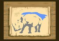 Rhino Facing to the left, Stencil  350 micron Mylar not thin stuff #Rhino02
