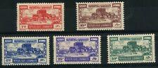 More details for lebanon 1945 crusader castle byblos 5 values mint