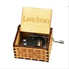 Love Story Theme Hand Crank Music Box Festival Souvenir Gifts Mini Music Box