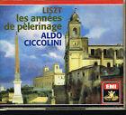 Coffret CD album: Liszt: les années de pélerinage. Aldo Ciccolini. EMI 2 CDs. D