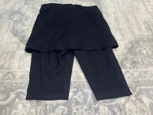 Womens Torrid Black Skirt With Shorts Size 0 /12/large  Pull On Stretch