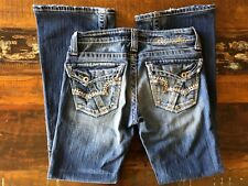 Big Star Casey K Women's Low Rise Fit 26R Petite Thick Stitch Factory Distressed