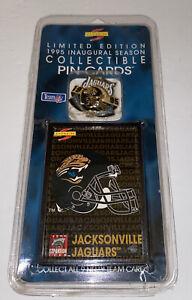 Pinnacle Score 1995 Jacksonville Jaguars Inaugural Season Pin with Card NIP