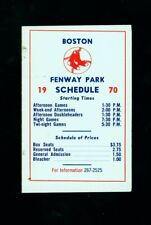 1970 Boston Red Sox double-fold pocket baseball schedule (team issued)