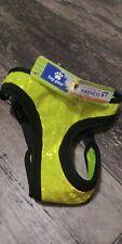 "Hi-Visibility Silver Reflective Dog Vest Harness Size M Girth 19-23"" NWT #57"
