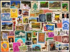 NEPAL 100 All Different Large & Small Thematic Flora & Fauna Stamps