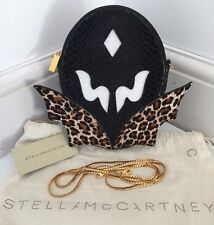 STELLA Mccartney SUPEREROI NERO ECOPELLE Serpente Clutch Borsa a tracolla MADE IN ITALY