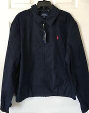 $148 NWT Mens Polo Ralph Lauren Bayport Windbreaker Full Zip Jacket Classic Navy