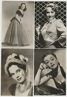 Lot of 4 1950s Belgian Gum Film Stars XL Real Photo Trading Cards w/Back Damage