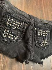 Ladies Affliction Black Denim Shorts